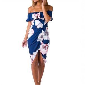 Women's high low floral dress